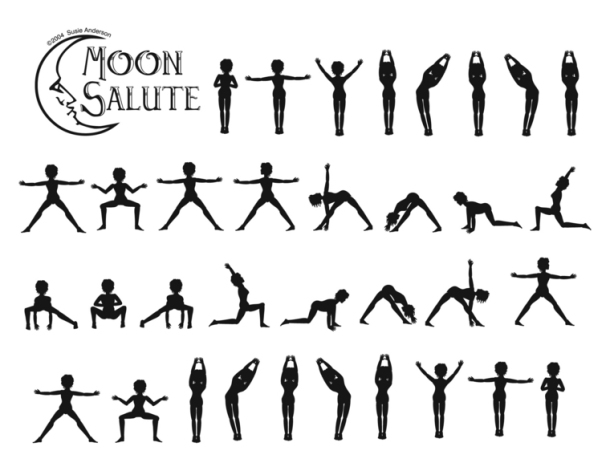 Saluting the moon